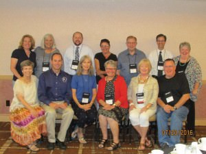 Past chairs of the AER Orientation & Mobility Division are pictured at the AER International Conference 2016 in Jacksonville, Florida , July 22, 2016.